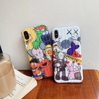 Wholesale cases candy for sale – best kaws Sesame Street Case for iPhone PRO MAX s plus Plus Candy Color TPU Silicone Cases for iPhone X Xs Max Xr Coque funda