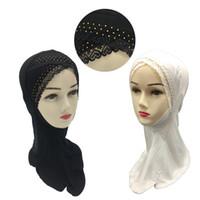 halsabdeckung hijab großhandel-2019 muslimische Frauen Bonnet Ninja Inner Neck Cover Hijab Mütze Islamic Underscarf Headwear Hut Kopftuch Amira Ramadan Turban Wrap Bandana