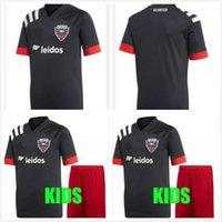 Wholesale thai quality black soccer jersey resale online - NEW Soccer Jersey ROONEY ARRIOLA ACOSTA HARKES STIEBER DC United Black White Football Shirt Thai Quality