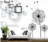 Wholesale wallpaper minimalist modern for sale - Group buy Custom d Mural Wallpaper Dandelion box flower and bird butterfly D modern minimalist fresh background wall