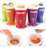 milkshake dondurmalar toptan satış-Milkshake Smoothie Slush Makinesi Meyve Suyu Kum Dondurma Dondurma Kaşık Kullanımlık Milkshake Maker Ile Slush Shake Maker