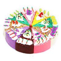 alimento do refrigerador do ímã venda por atacado-1 pcs Colorido Macio Shortcake Sobremesa Ímãs de Geladeira de Alta Qualidade Squishy Ultra Realista Falso Comida lenta crescente Kid Toy Presente