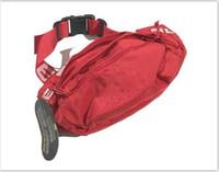 packs de nylon preto venda por atacado-Designer Unisex Saco Da Cintura Preto Vermelho 4 cores 18SS 44th Moda Unisex Fanny Pack Moda Cintura Homens Lona Hip-Hop Cinto Saco Homens Bolsa De Ombro