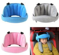 Wholesale pillow safety belts for sale - Group buy Convenient Baby Solid Soft Safety Car Seat Sleep Nap Aid Child Kid Head Pillow Support Holder Protector Belt
