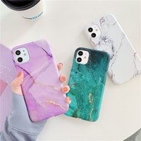 Wholesale squishy iphone case for sale – best Green Marble Stone Gel Phone Case For iPhone Pro Max XR X XS Max Plus Case Soft Phone Back Cover Squishy White