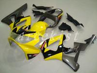 conjunto de carenagens moto venda por atacado-Novo Molde de Injeção ABS motocicleta moto Fairings Kits Apto Para HONDA CBR929RR 00 01 2000 2001 conjunto de carroçaria personalizado Conjunto de Carenagem amarelo cinza
