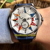 Wholesale 42 mm sports watches for sale - Group buy 3 Color Admiral s Cup Legend A395 OF02 AA12 White Dial Automatic Mens Watch Steel Case Leather Strap Sport Watches