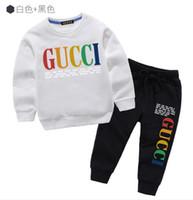 zebra druck mode großhandel-Kinder Baumwolle gedruckt Shirt Mode lose Sportanzug Trend Hoodie Qualität Pullover Babykleidung Anzug Frühling