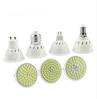 e27 led regulable esmerilado al por mayor-E27 E14 MR16 GU10 Lampada LED Bombilla 220V 240V de la lámpara Bombillas LED Foco 48 60 80 LED 2835SMD Lampara luz del punto