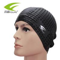 unisex kısa saç toptan satış-Esnek Silikon Su Geçirmez Yüzme Kap Mayo / şapka Kapak Kulak Yüzmek Erkekler kadınlar Unisex Yetişkin uzun kısa saç CAP111