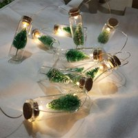 Wholesale led lights for christmas trees indoor resale online - 1M Mini Christmas Tree LED String Fairy Lights Glass Bottle Pendant Natale Garland Xmas Decorations for Home New Year Gift