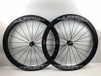складывающиеся велосипедные диски оптовых-Ультра-легкий LEERUN 50 мм 700C диски UD матовый дорожный велосипед углерода колеса 38 мм clincher с powerway R36 концентратор