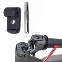 gancho de rueda al por mayor-Plegable Gancho + pin Scooter Electrónico Reforzado Bloqueo del volante Reemplazo Bisagra Latch Repair para Xiaomi M365 Accesorios