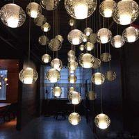 ingrosso bar luci in vendita-G4 LED Lampada a sospensione sfera di cristallo Meteor pioggia luce di soffitto Meteorico doccia scale bar Droplight illuminazione lampadario AC110V-240 V