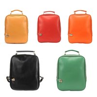 ingrosso boston candy-2019 Fashion Candy Color Donna Borsa a tracolla Pu Leather School Bag Zaino dolce Agd Fab Women Bag