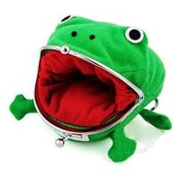 ingrosso borse di rana-New Brand Lovely Frog Modello Money Pocket Anime Cartoon Portafoglio Portamonete Manga Flanella Portafoglio Carino Borsa Hasp Naruto Portamonete