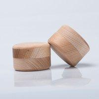 caja de madera de almacenamiento vintage al por mayor-40 unids Ronda Vintage Caja De Almacenamiento de Joyería de Madera Anillo Pendientes Caja de Almacenamiento de Contenedores Venta Caliente