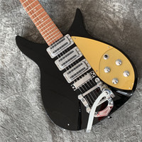 Wholesale electric guitar 325 resale online - RIC John Lennon Short Scale Length mm Jetglo String Black Electric Guitar Bigs Tremolo Brown Lacquer Paint Fingerboa