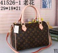 kilitli cüzdanlar toptan satış-hotselling klasik en kaliteli bayan hakiki oksitleyici deri çanta omuz askılı çanta çanta çanta cüzdan + lock