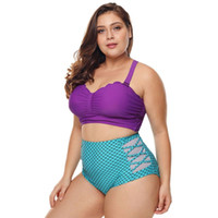 e8f712bfdf5 Wholesale plus size thong bathing suits online - Womens Plus Size Two Piece Bikini  Set Scalloped
