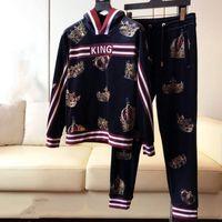 nouveau designer hoodies achat en gros de-2019 hoodies costume imprimé lettre couronne d'arrivée de la mode + ensemble pantalon pour les hommes concepteur Survêtement vêtements de marque