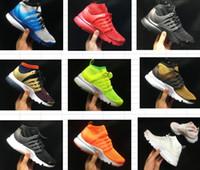 medio real al por mayor-2019 Presto High Uppers Acronym Air MID Blanco Negro azul amarillo Hot Lava zapatos para correr para hombre calzado deportivo tamaño 36-45