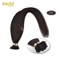 brezilya düz saç rengi toptan satış-VMAE Brezilyalı Füzyon Düz Uzantıları 18 ila 24 100% Brezilyalı Bakire Saç 32 renkler U Tırnak Ucu İnsan Saç