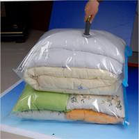 Wholesale vacuum seal clothing resale online - Vacuum Bag Clothe Storage Bag Luggage Travel Bags Home Organizer Transparent Border Foldable Clothes Organizer Seal Space Saver