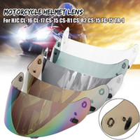 Wholesale motorcycle helmets gold for sale - Group buy For HJC CL CL CS CS R1 CS R2 CS FG TR Motorcycle Helmet Lens helmet visor