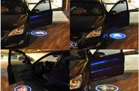 12v llevó luces de sombra al por mayor-Al por mayor-inalámbrico de la puerta del coche luz logo proyector bienvenido lámpara led fantasma sombra luz para Audi Benz Nissan Mitsubishi Mazda VW Opel