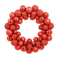 Wholesale wall floor photography prop resale online - Wreath Ball Festival Scene Layout Christmas Decorative Photography Prop Showcase Door Wall