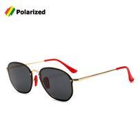 rote kühlkissen großhandel-Großhandel 2019 Mode Beliebte 3579 BLAZE Runde Sonnenbrille Frauen Rote Nose Pad Coole Marke Design UV400 Sonnenbrille Oculos De Sol