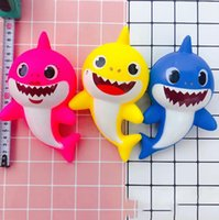 Wholesale chinese new gifts for sale - Baby Shark Squishy Toys Colors Cartoon Slow Rising Squeeze Decompression Toys Dolls Gift Party Favor OOA6672