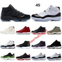 размеры колпачков оптовых-11 баскетбольная обувь Конкорд 45 платиновый оттенок крышка и платье пространство варенье выиграть, как 96 дизайнерская обувь мужчины женщины спортивные кроссовки размер 36-47