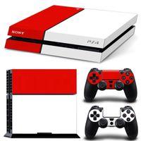 pegatinas de consola ps4 al por mayor-Juego completo de cubierta de vinilo adhesivo para la piel de Fanstore para consola Playstation PS4 y 2 controles remotos
