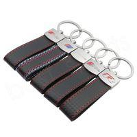 спортивные ключи оптовых-Fashoin металлический кожаный брелок брелок для ключей Брелок для ключей для BMW M Tech M Sport для Audi Sline RS HHA45