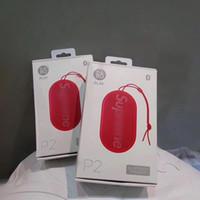 drahtloser wasserdichter mp3-player großhandel-SUP Mini Bluetooth-Lautsprecher kabellos wasserdicht Tragbarer Audio-MP3-Player P2-Lautsprecher Subwoofer Powerbank