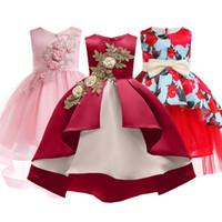 Flower Girls Princess Dress Children Wedding Party Dress Festive Clothes Kids Dresses For Girls 3-10 Years Y19061701