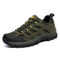 армия зеленый спортивные туфли для мужчин оптовых-Уличная обувь Мужские труднодоступные мужские кроссовки большого размера 39-46 Мужские кроссовки Army Green Летние ботинки для отслеживания