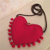 490527640273 Wholesale purses boutique online - Baby Girls Heart Shaped tassel Messenger  Bag Cartoon Cute Kids Mini
