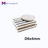 Wholesale neodymium disc magnets 6mm resale online - 2019 imanes Neodymium Disc Magnets x4 mm N50 Super Strong Powerful Rare Earth mm x mm Small Round Magnet mmx4mm