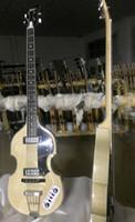 violon guitare électrique achat en gros de-Custom McCartney Hofner H500 1 CT Contemporain 4 Cordes Violon Basse Guitare Électrique Naturel Basse Érable Flamme