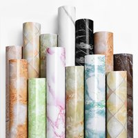 çıkarılabilir yapışkan malzeme toptan satış-61cm * 5m Mermer Duvar kağıdı su geçirmez PVC Kendinden Yapışan Duvar kağıdı Duvar Sanatı Sticker Isıya Dayanıklı Yatak Odası Mermer Sticker