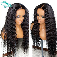 Bythair Curly Human Hair 13X6 HD Transparent Lace Front Wigs With Baby Hairs Pre Plucked Natural Hairline Black Color Deep Wave Bleached Knots