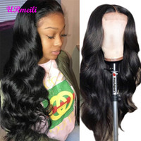 Wholesale weave hairstyles for natural hair resale online - Peruvian Human Hair Wigs For Black Women Peruvian Virgin Hair Weave Body Wave Closure Wigs Density Glueless Lace Wig