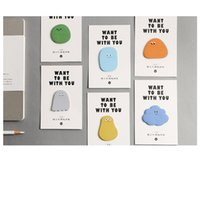 pegatinas de papelería al por mayor-36 unids Lindo guisante caramelo notas pegajosas adhesivo marcador marcador nota Papelería Oficina Útiles escolares Material escolar