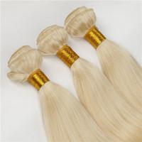 человеческие волосы оптовых-Класс 7а бразильский мед блондинка прямые волосы ткать необработанные 613 русская блондинка девственница наращивание волос 3 шт. много толстые пучки человеческих волос