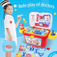 Wholesale play boy bags for sale - Group buy Children Pretend Play Doctor Set Nurse Stimulation Medical Tool Bag Kit Doctor Game Role Play Kids Educational Toys for Boy Girl