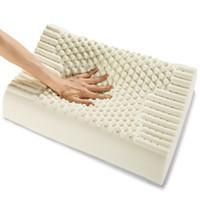 Wholesale massaging beds resale online - Thailand Import Natural Latex Cervical Vertebrae Health Care Orthopedic Massage Natural Latex Pillow Bedding Supplies