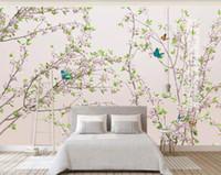 ingrosso fiore di prugna cinese-bellissimo paesaggio sfondi Plum Blossom Peach Blossom Flower Branches 3d Nuovo cinese sfondo muro